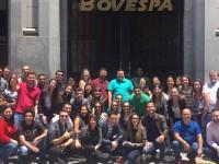 Alunos e professores em visita técnica à Bovespa
