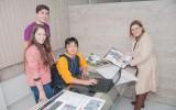 Acadêmicos e a professora Regina: Interação de conhecimentos e de esforços para execução de projetos